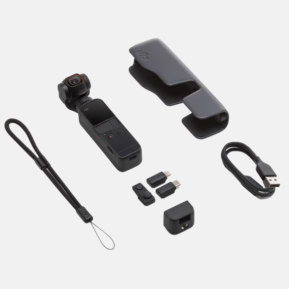 4k video camera, DJI Pocket 2 package- Handheld 3-Axis Gimbal Stabiliser with 4K Camera, 1/1.7 inch CMOS, 64MP Photo, Pocket-Sized, ActiveTrack 3.0, Glamour Effects, YouTube Video Vlog, for Android and iPhone, 4k action camera