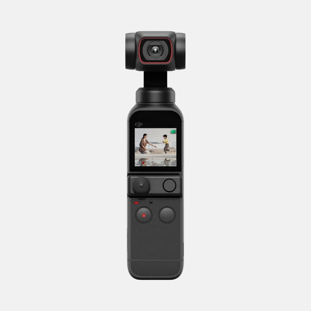 4k video camera, DJI Pocket 2 front - Handheld 3-Axis Gimbal Stabiliser with 4K Camera, 1/1.7 inch CMOS, 64MP Photo, Pocket-Sized, ActiveTrack 3.0, Glamour Effects, YouTube Video Vlog, for Android and iPhone, 4k action camera