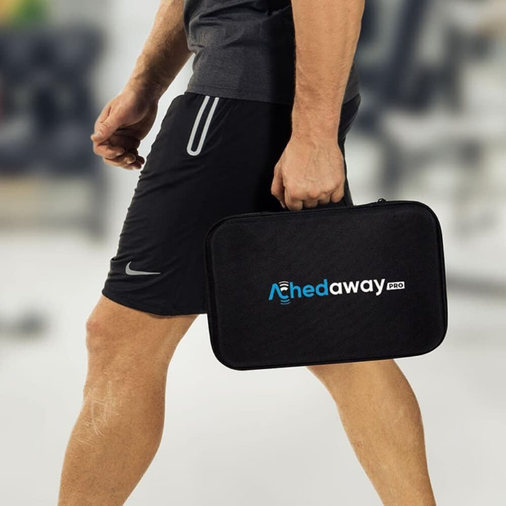 handheld muscle massager achedaway pro carrying case australia