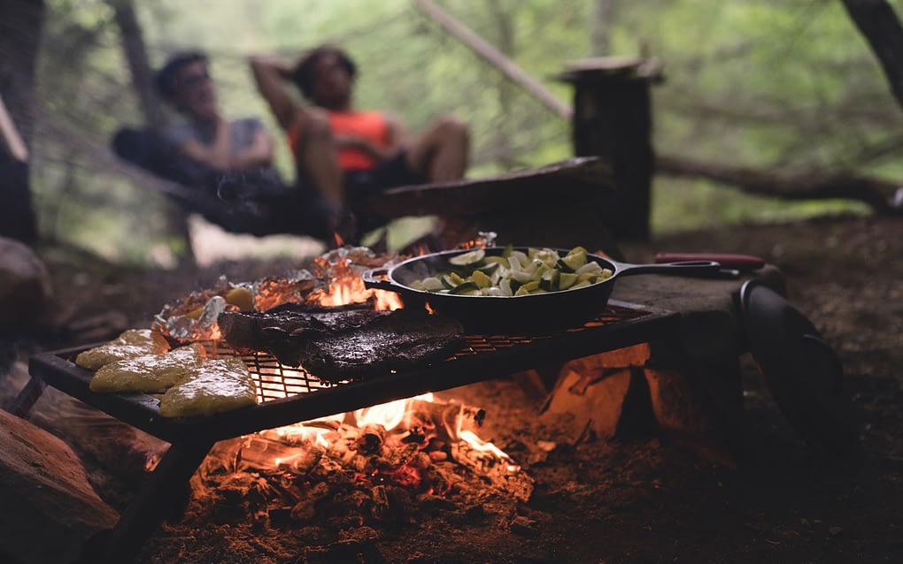 camping food roasted veggies