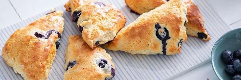 protein blueberry scones